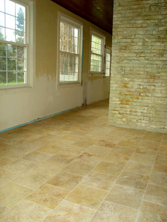 Tile Installation St Louis Travertine Tile Floor Installation