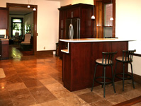 St. Louis Floor Tile - Tile St. Louis - Travertine Stone Kitchen Floor