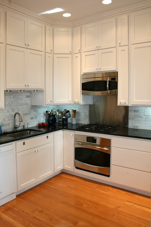 Kitchen Remodel With Painted Maple Cabinets