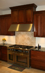 St Louis Kitchen Cabinets Kitchen Remodeling - Custom Kitchen Hood Cherry Raised Panel