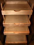 Kitchen Cabinets St Louis - Solid Maple Adjustable Rollout Tray Pantry