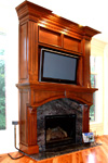 St Louis Kitchen Cabinets - Custom Hearth Fireplace Surround