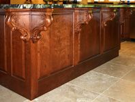 St Louis Kitchen Cabinets - Raised Panel Cabinet Back with Corbels