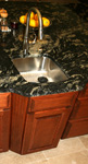 St Louis Kitchen Cabinets - Clipped Fluted Corner Island Sink Base