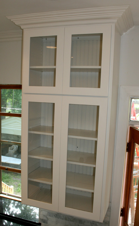 FLOOR CABINET WITH 1 GLASS DOOR - CHESTERFIELD BY ELEGANT HOME