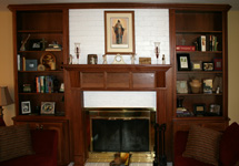 St Louis Kitchen Cabinets - Fireplace Hearth Bookcases