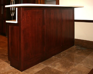 St Louis Kitchen Cabinets - Bar Height Raised Panel Cabinet Back