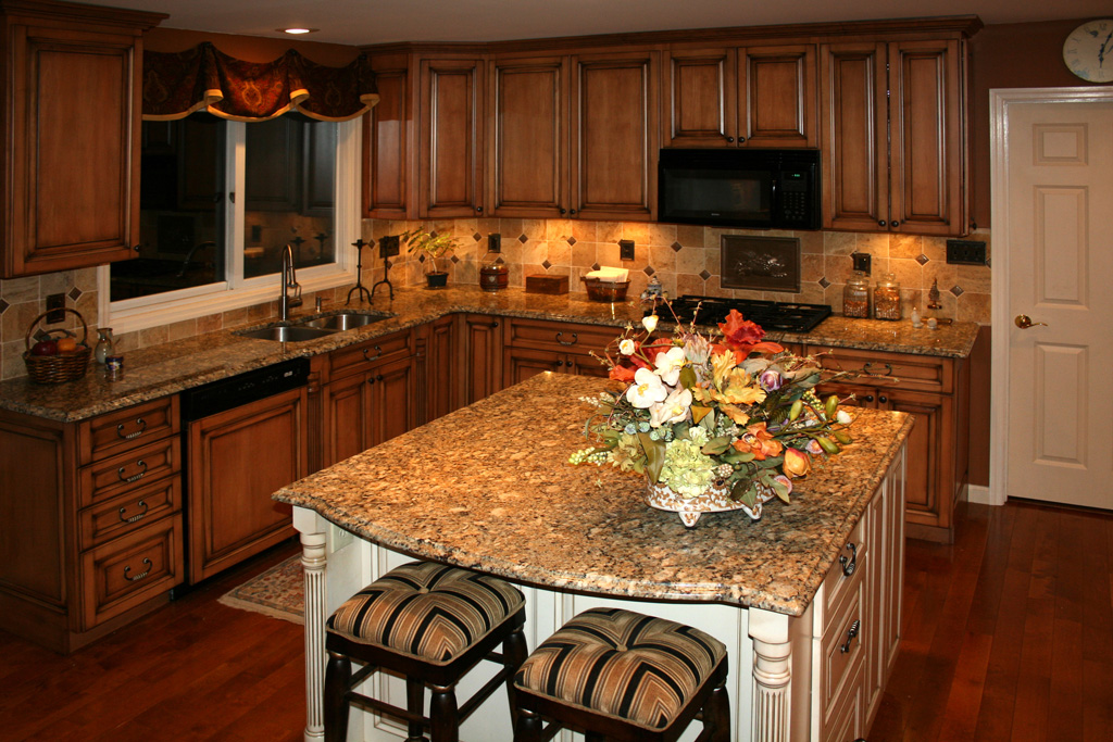 St Louis Kitchen Remodeling Kitchen Cabinets   Maple Kitchen Cabinets Burnt  Sugar Glaze