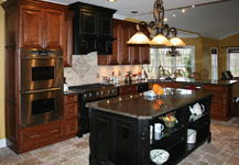 St Louis Kitchen Remodeling Kitchen Cabinets - Distressed Cherry Kitchen Cabinets