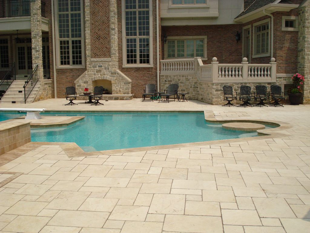 St. Louis Floor Tile   Tile St. Louis   Turkish Marble Tile Pool Deck