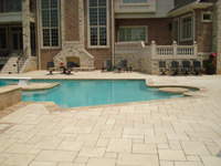 St. Louis Floor Tile - Tile St. Louis - Turkish Marble Tile Pool Deck Stairs