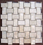 Mosaic Marble Tile St. Louis - Polished Marble Mosaic Tile Crema Marfil Emperador Dot