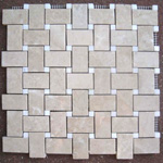 Mosaic Marble Tile St. Louis - Polished Marble Mosaic Tile Crema Marfil Thassos Dot