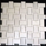 Mosaic Marble Tile St. Louis - Polished Marble Mosaic Tile Statuary White Statuary White Dot
