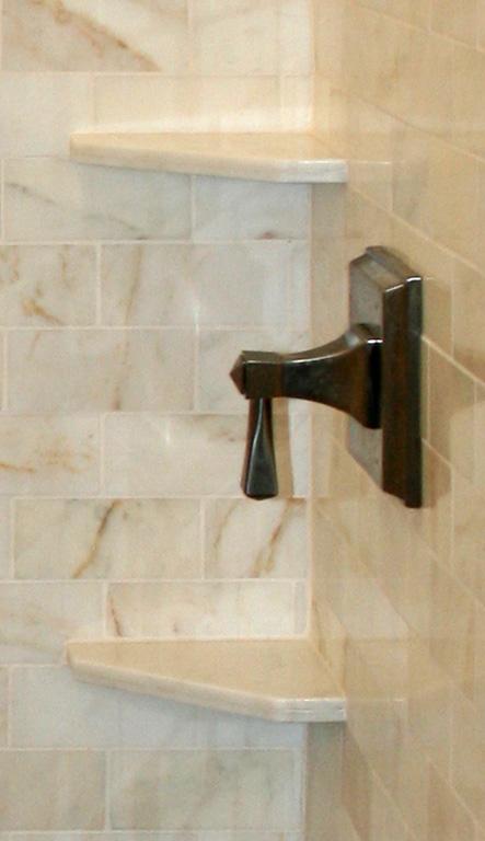Hand Cut Shower Corner Shelves