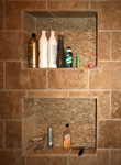 Tile St. Louis - Inset Shower Shelf Mosaic Back - Bathroom Remodel - St. Louis Bathroom Tile Marble - Specialties #2