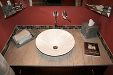 Tile St. Louis - Mosaic Tile Insert Over Marble Vanity Top - Bathroom Remodel - St. Louis Bathroom Tile Marble - Specialties #5