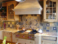 Custom Cut Slate Mosaic Tile - st. louis kitchen tile Backsplash- Specialties #11
