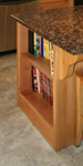 St Louis Kitchen Cabinets - Island end open bookcase cabinet