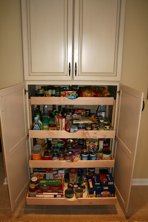 St louis kitchen cabinets built in pantry shelves