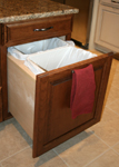 St Louis Kitchen Cabinets - Double pull out waste cabinet