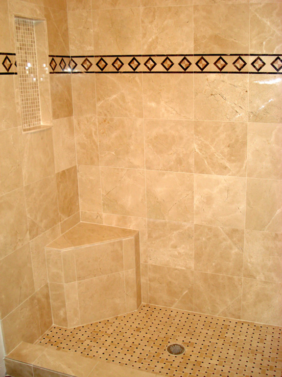 Custom Tile Work : Tile bathroom floor and shower quincalleiraenkabul