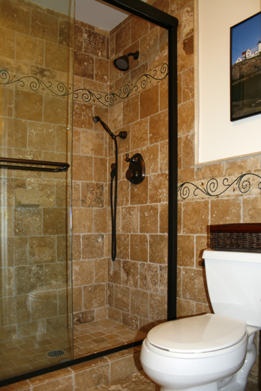 Travertine Shower With Bath Wall Tile