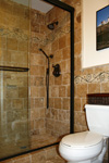 Custom Tile Showers - Tile St. Louis - Custom Travertine Shower Bath Wall Tile