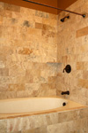 St. Louis Custom Showers - Tile Installation St. Louis - 6x12 Hand Cut Honed Travertine