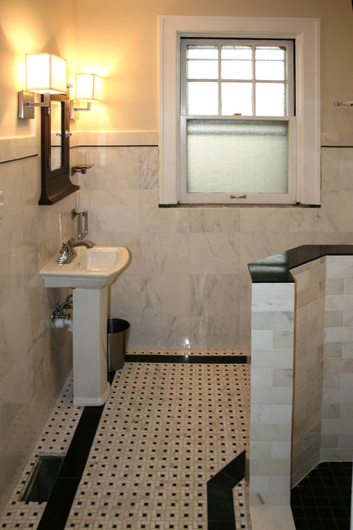 Custom Tile Showers St Louis Bath Remodel Carrera Shower And Mosaic Marble Wall