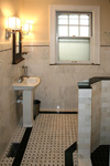 Custom Tile Showers - Tile St. Louis - Bath Remodel Carrera Tile Shower and Mosaic Floor