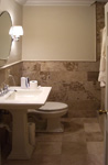 Tile St. Louis - Matching Travertine Bathroom Floor - Bath Testimonial Image #2