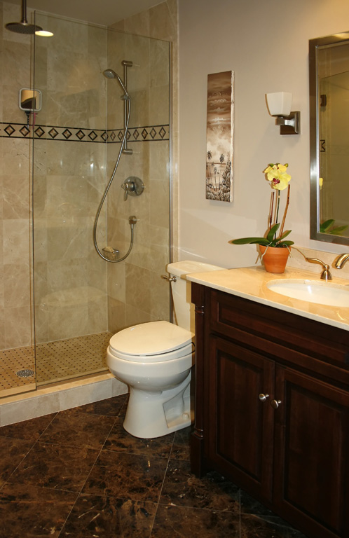 ... Bathrooms Remodeling - Works of Art Tile Marble Kitchen Cabinet Design