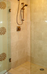 Custom Tile Showers - Tile St. Louis - Custom Crema Marble Shower