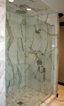 Custom Tile Showers - Tile St. Louis - Bath Remodel Custom marble walk in shower