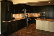St Louis Kitchen Cabinets Kitchen Remodeling - Cherry kitchen cabinets with painted glazed island
