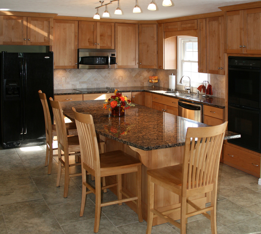 St Louis Kitchen Cabinets Kitchen Remodeling   Alder Kitchen Cabinets With  Island